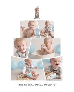 Cake smash photography in Gloucester