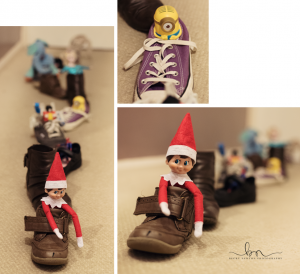 elf on the shelf shoe train